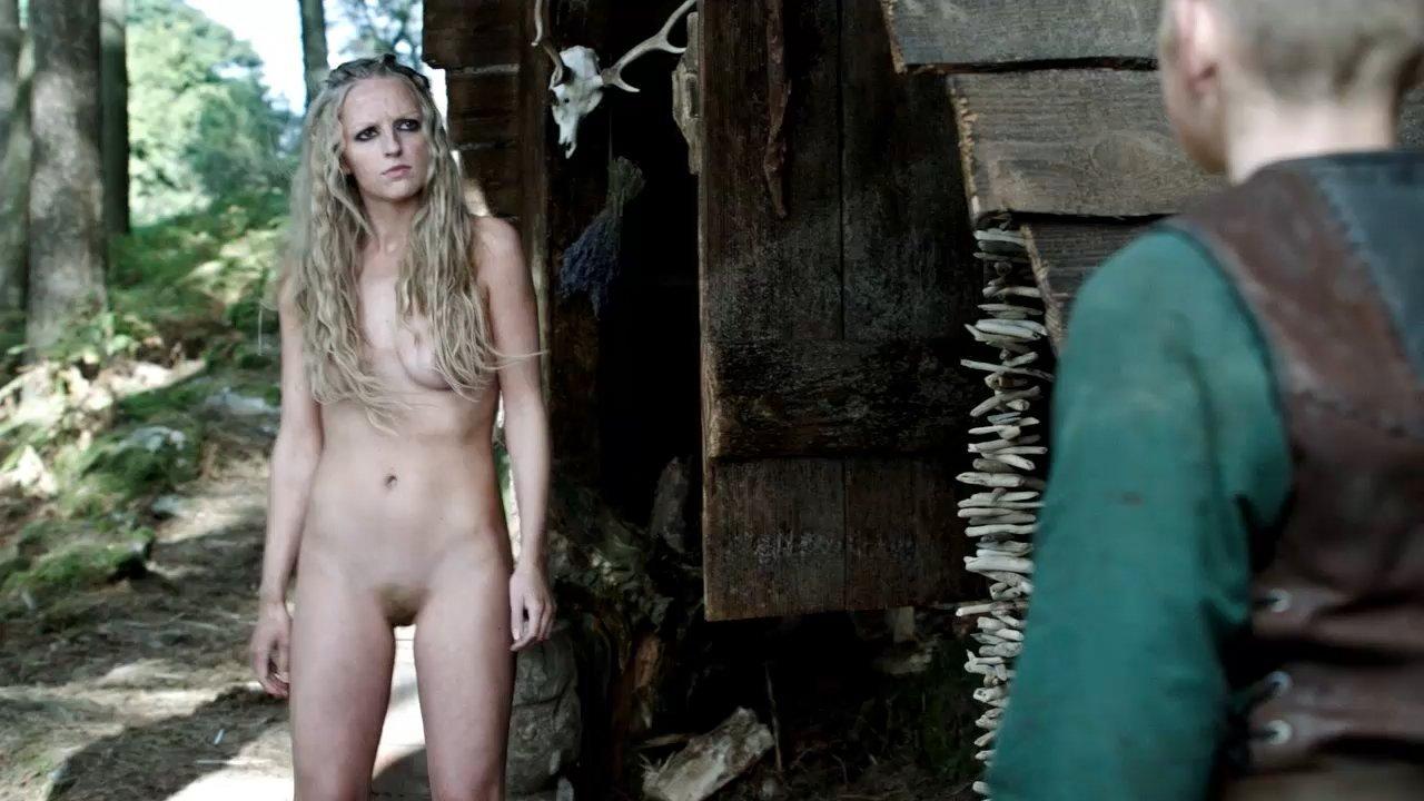 nude womanboy Maude Hirst (as Helga) in Vikings (2013) - womanboy